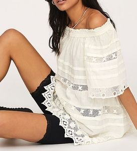 NWT Free People Shades of Summer Tunic LG White